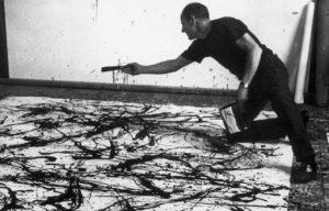 Una Celebre Immagine Di Pollock Al Lavoro